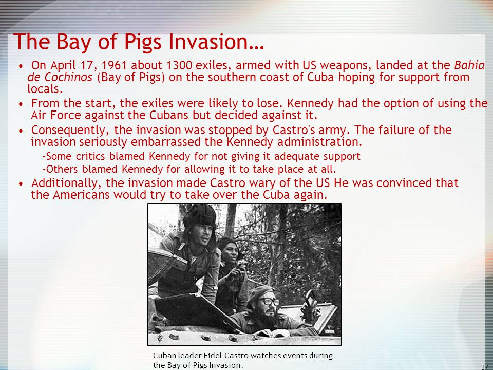 The Bay of Pigs Invasion…