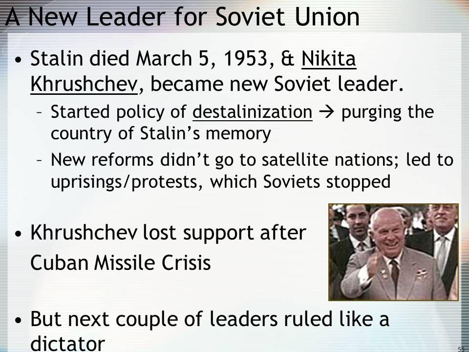 A New Leader for Soviet Union
