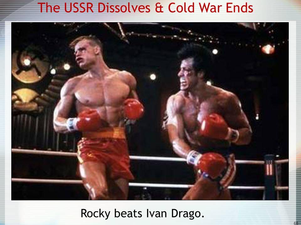 The USSR Dissolves & Cold War Ends