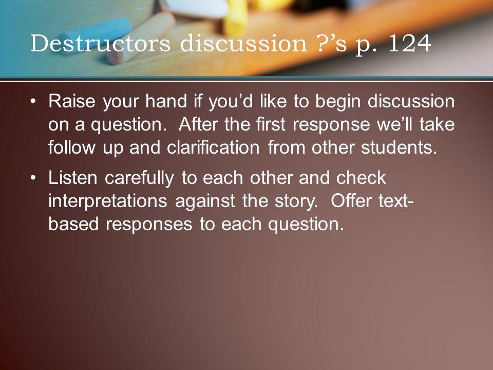 Destructors discussion 's p. 124
