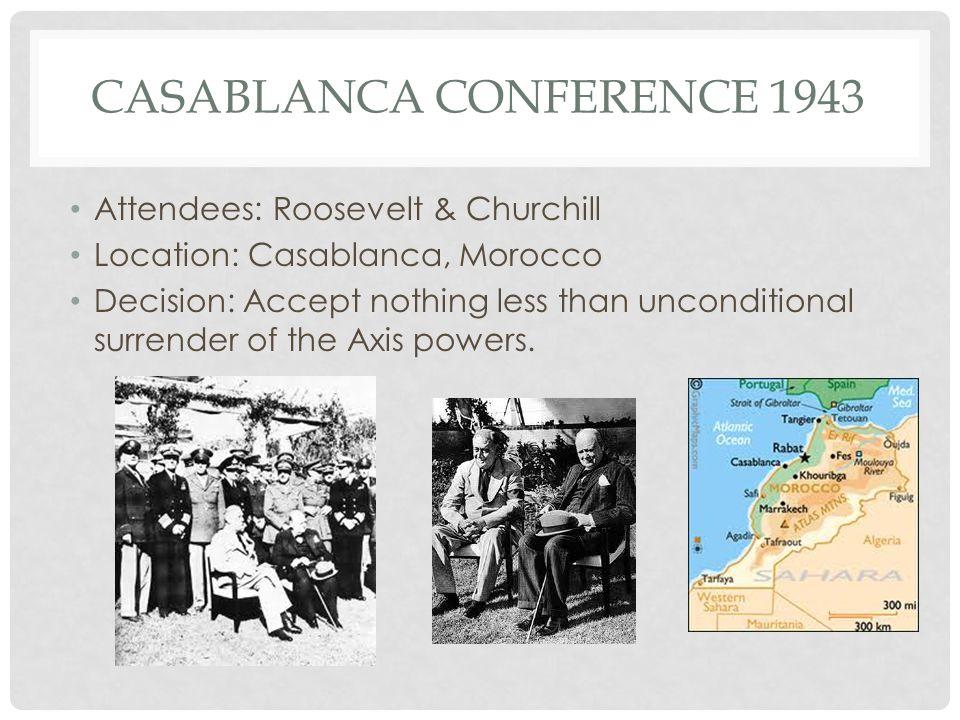Casablanca Conference 1943
