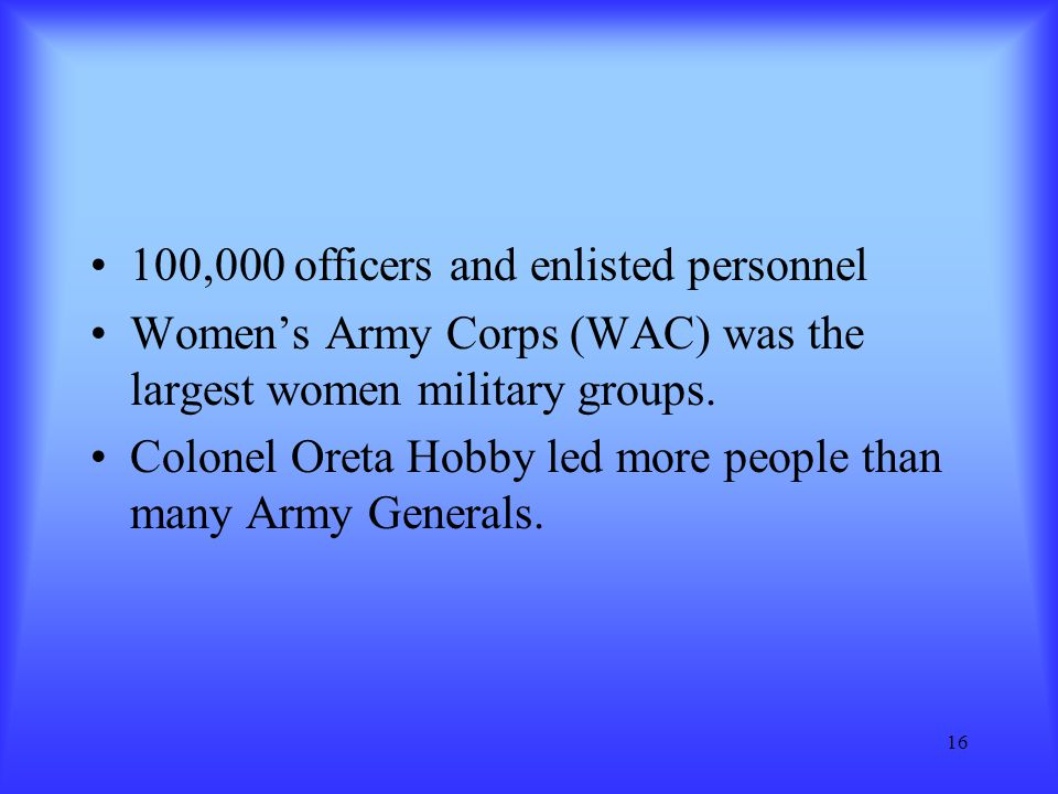 100,000 officers and enlisted personnel