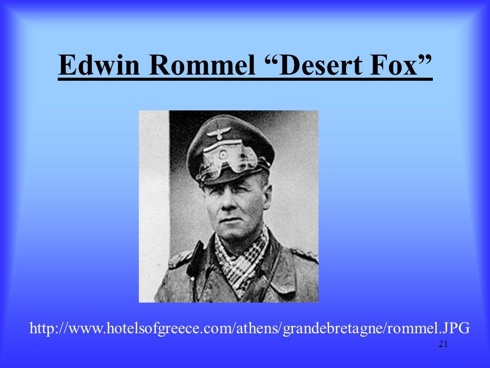 Edwin Rommel Desert Fox