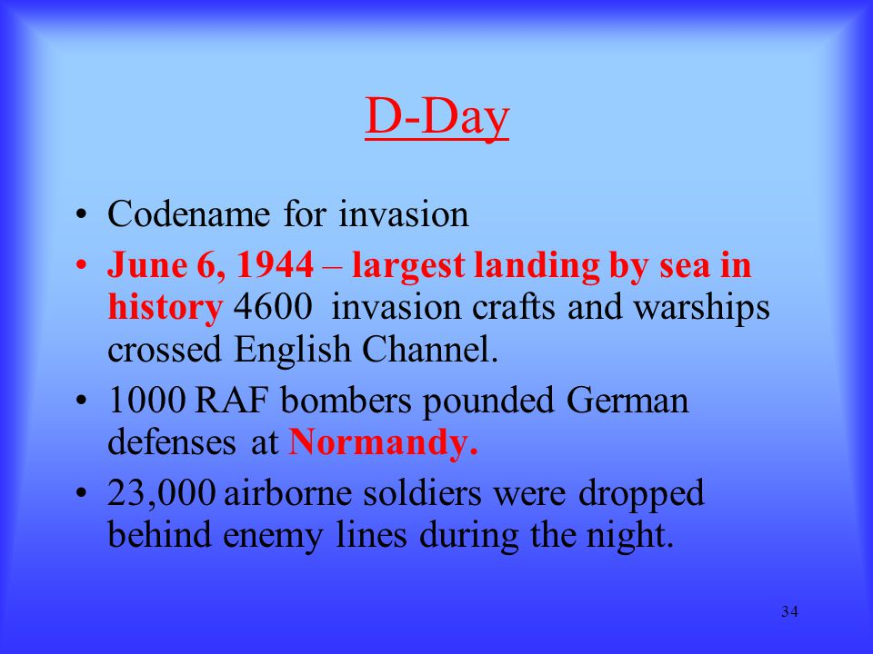 D-Day Codename for invasion
