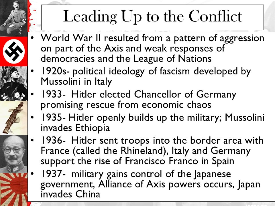 Leading Up to the Conflict