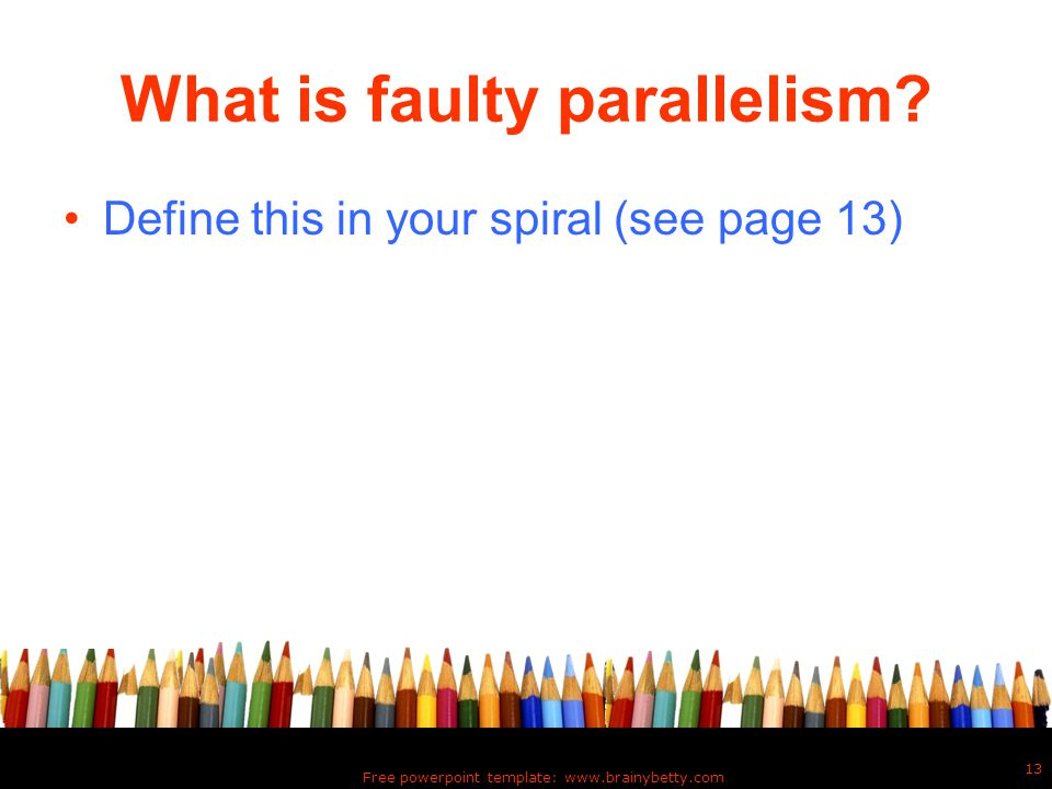 What is faulty parallelism