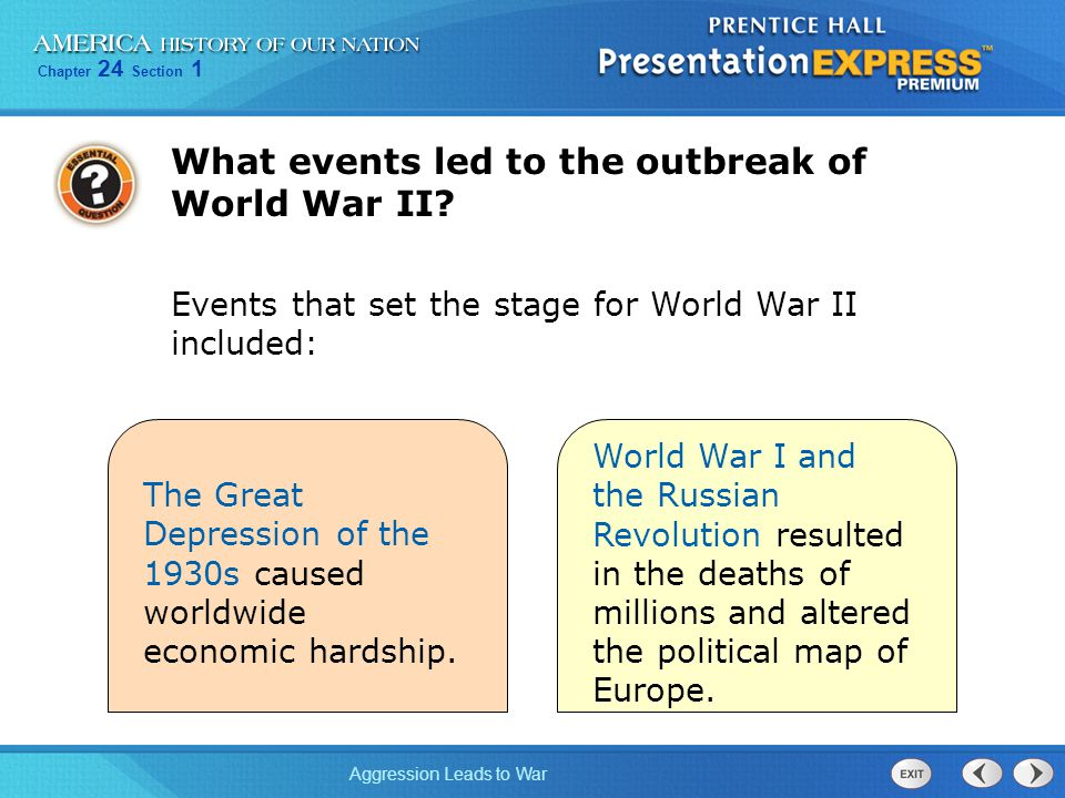 What events led to the outbreak of World War II