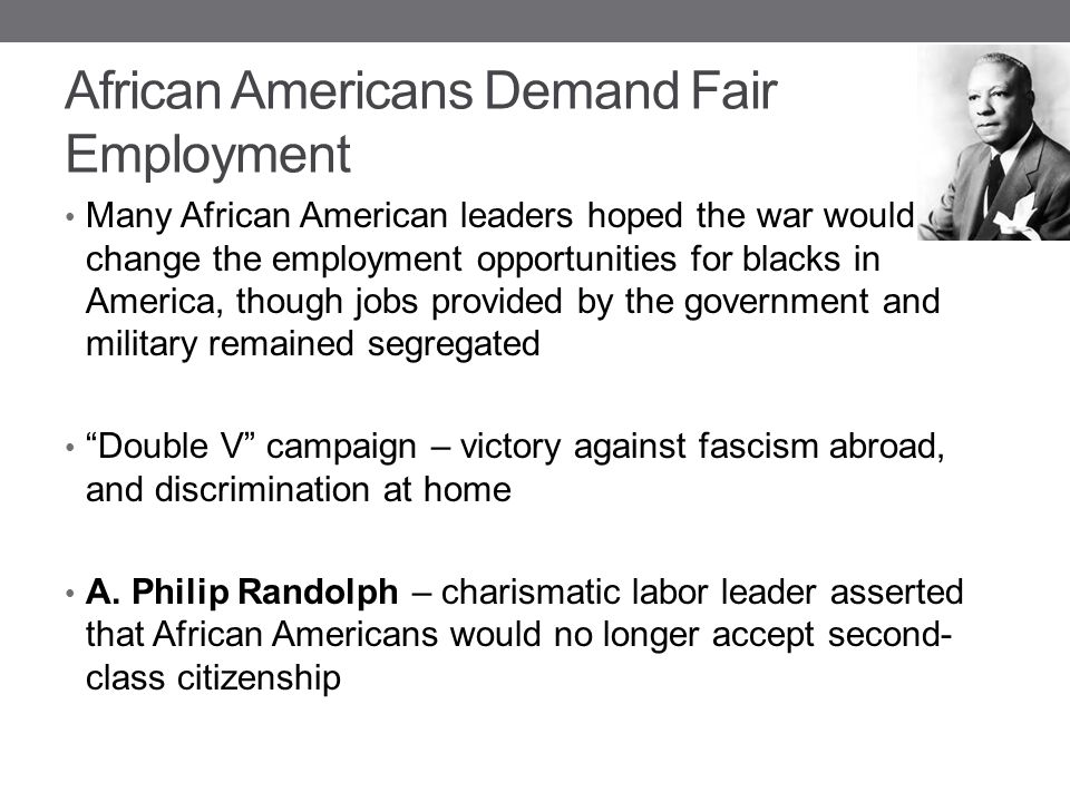 African Americans Demand Fair Employment