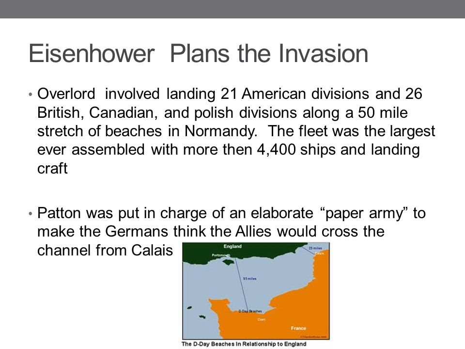 Eisenhower Plans the Invasion