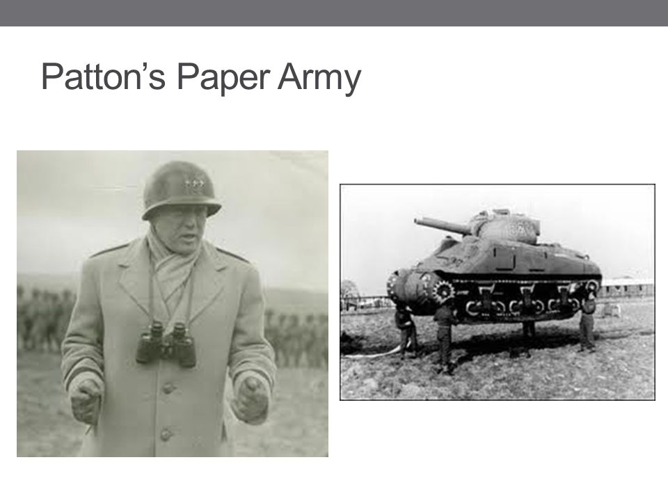 Patton's Paper Army