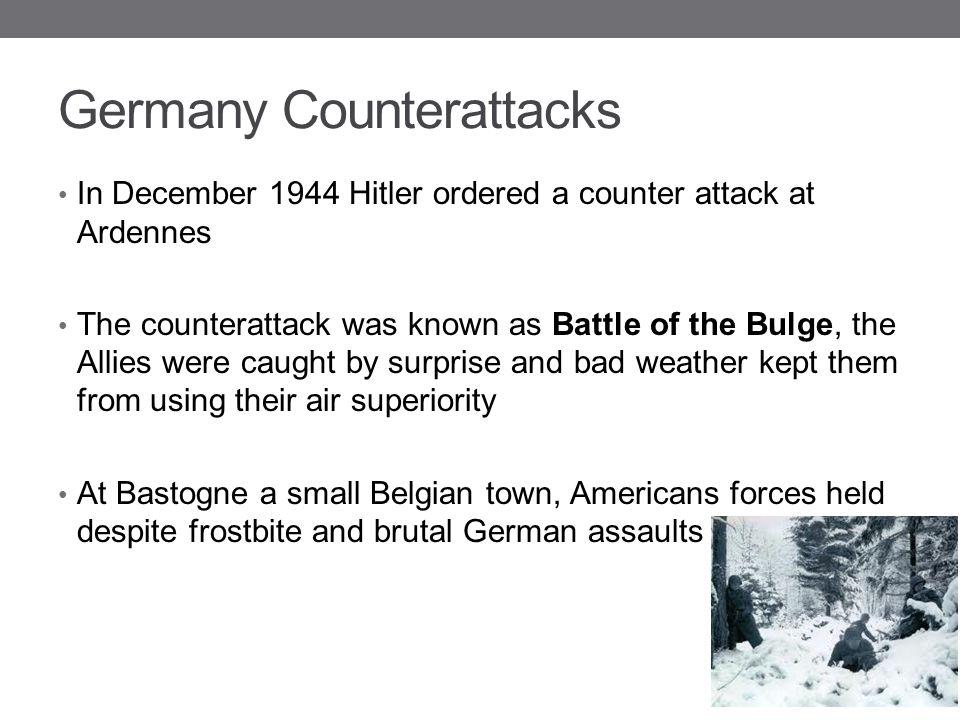 Germany Counterattacks