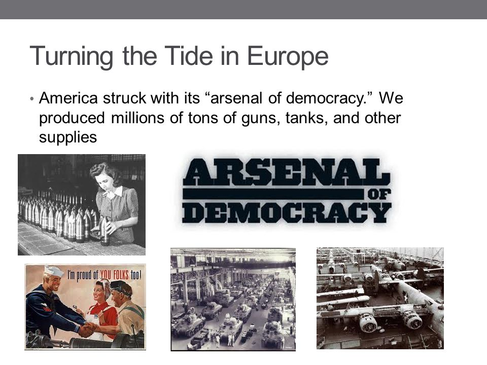 Turning the Tide in Europe