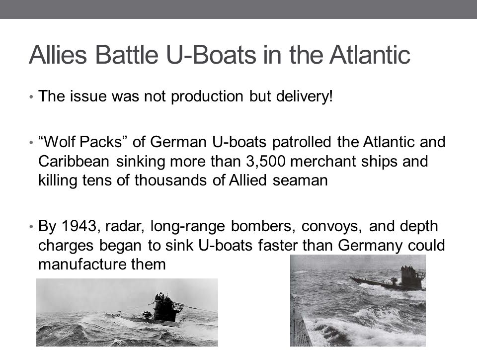 Allies Battle U-Boats in the Atlantic