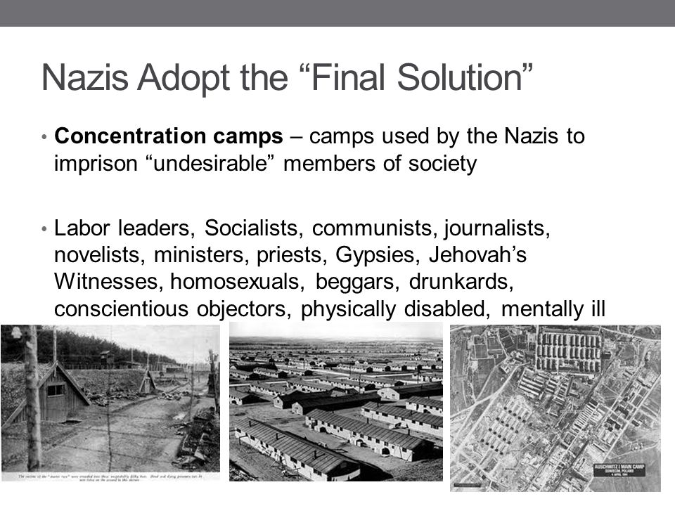 Nazis Adopt the Final Solution