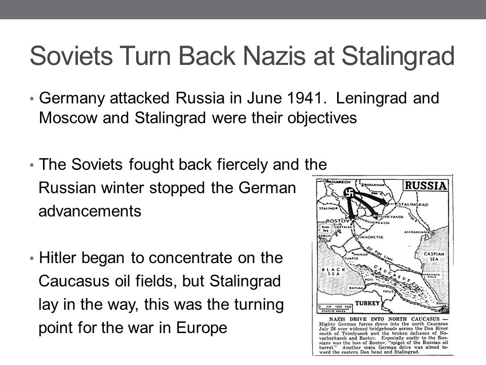 Soviets Turn Back Nazis at Stalingrad
