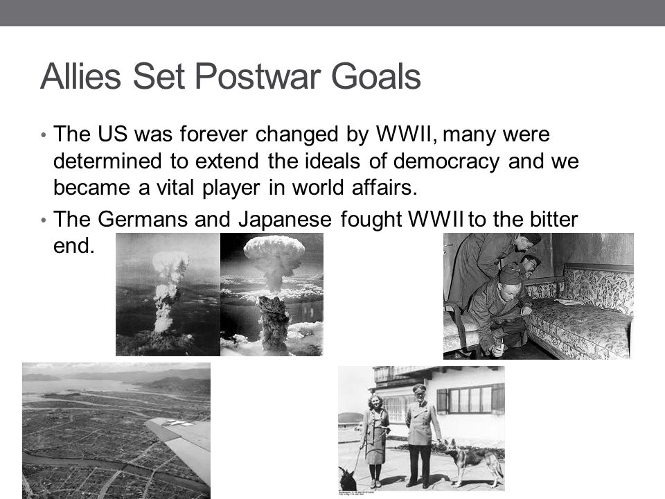 Allies Set Postwar Goals