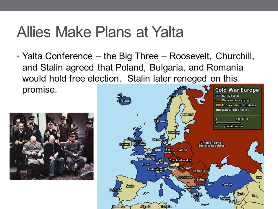 Allies Make Plans at Yalta