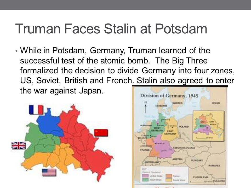 Truman Faces Stalin at Potsdam