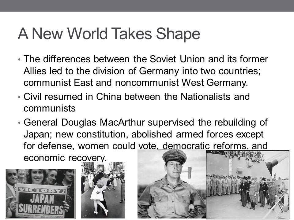 A New World Takes Shape