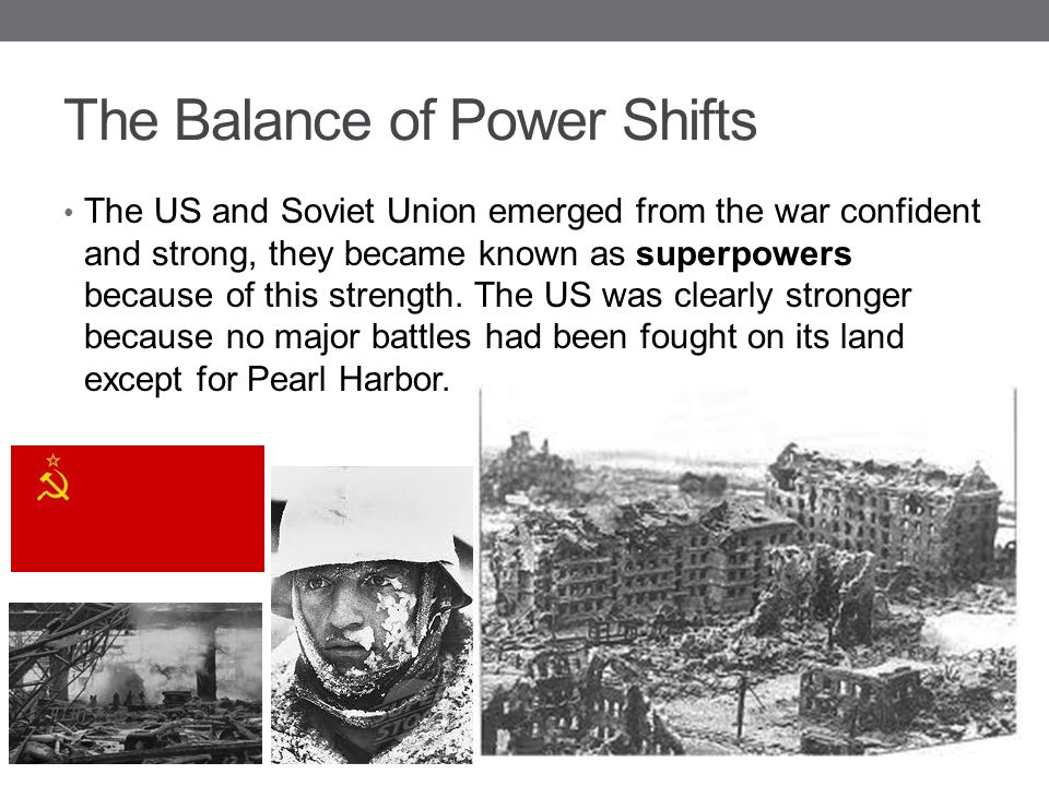 The Balance of Power Shifts