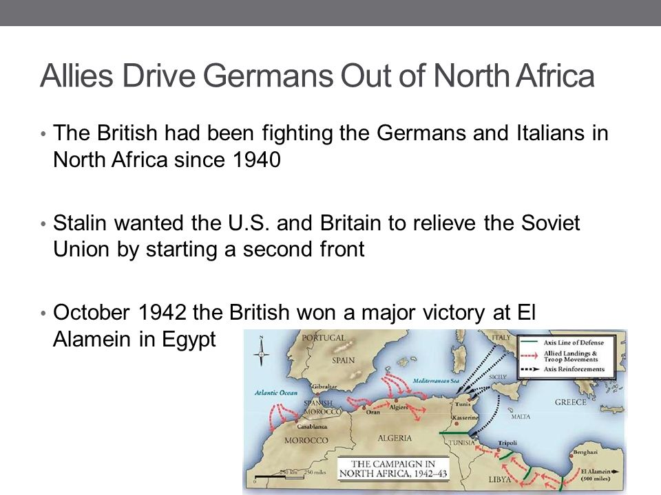 Allies Drive Germans Out of North Africa