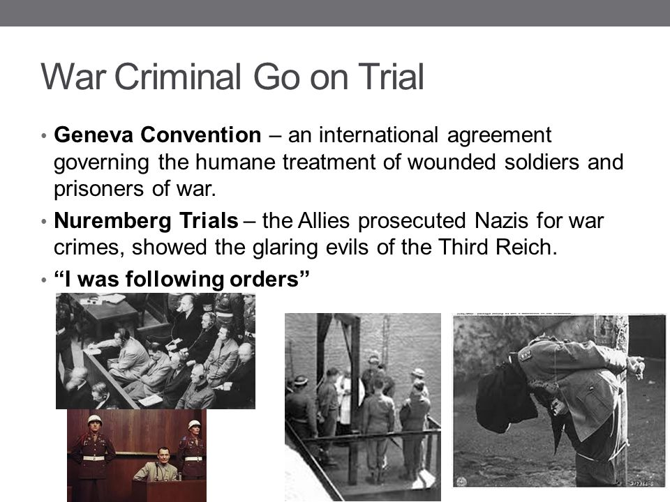 War Criminal Go on Trial