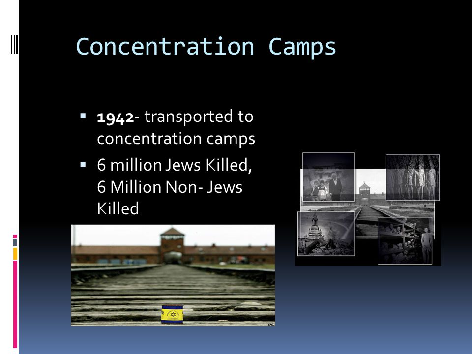 Concentration Camps 1942- transported to concentration camps
