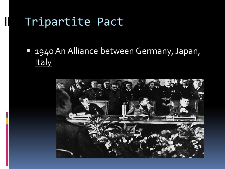 Tripartite Pact 1940 An Alliance between Germany, Japan, Italy