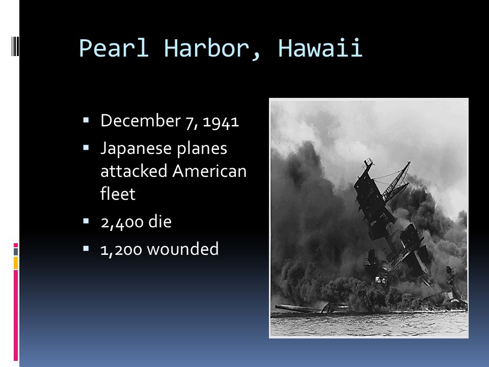 Pearl Harbor, Hawaii December 7, 1941