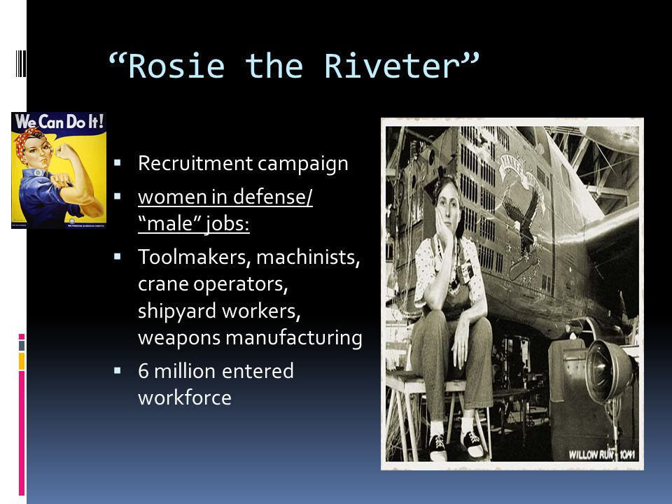 Rosie the Riveter Recruitment campaign