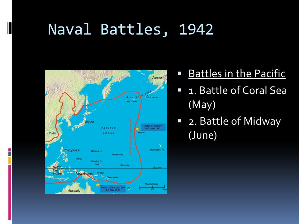 Naval Battles, 1942 Battles in the Pacific