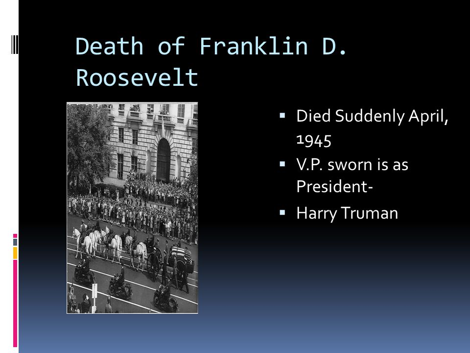 Death of Franklin D. Roosevelt