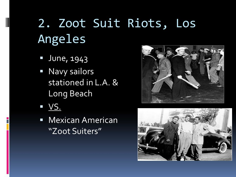 "zoot suit riots in los angeles 'zoot suit,' a pioneering chicano play, comes full  los angeles — when ""zoot suit"" first opened at the mark  the infamous zoot suit riots,."