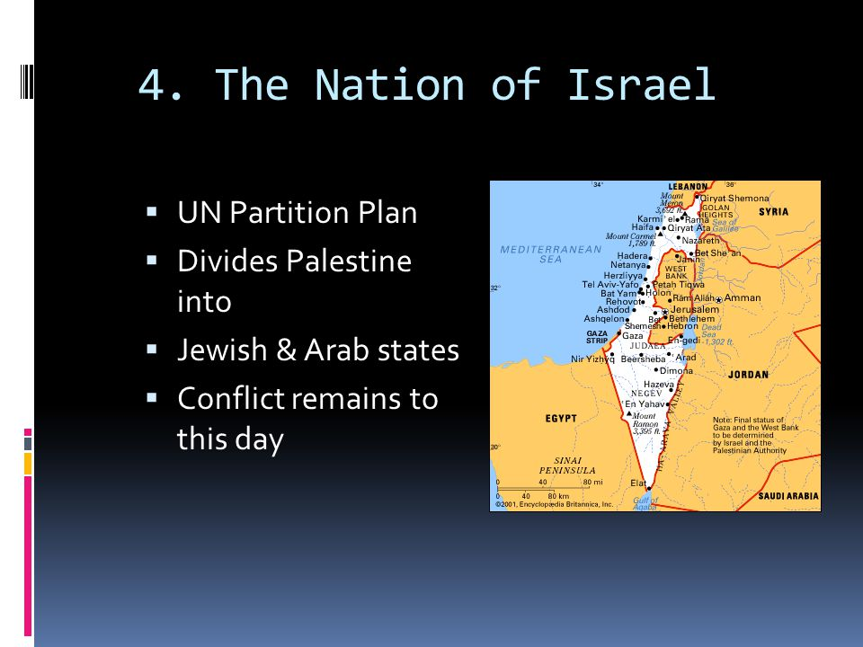 4. The Nation of Israel UN Partition Plan Divides Palestine into
