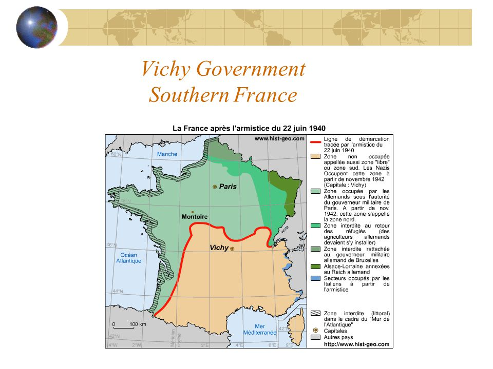 Vichy Government Southern France