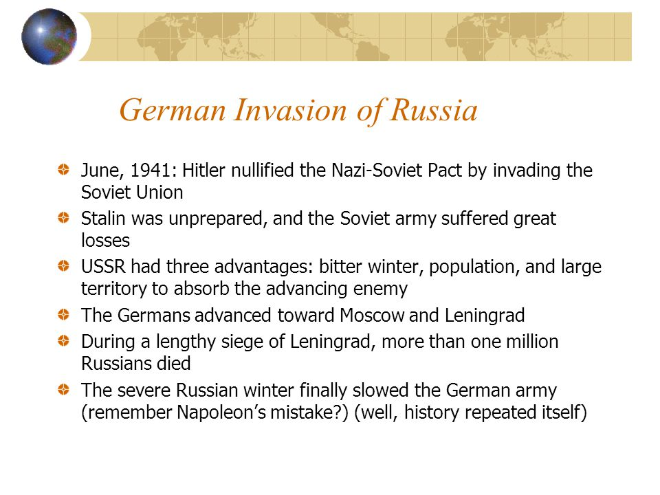 German Invasion of Russia
