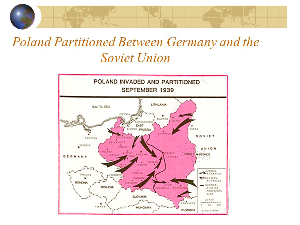 Poland Partitioned Between Germany and the Soviet Union
