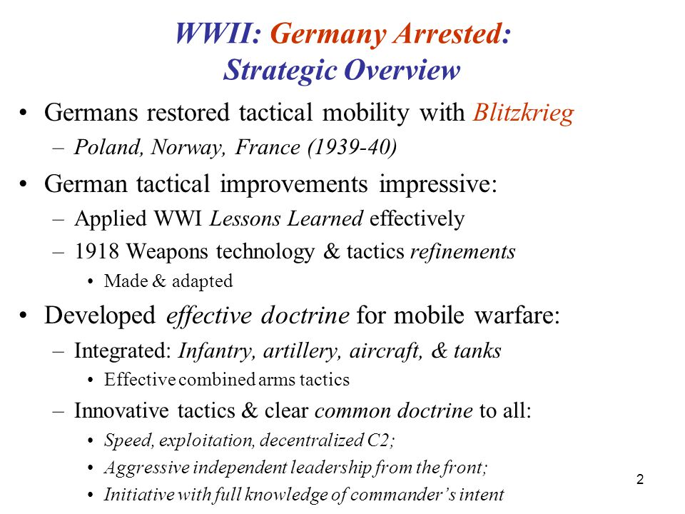 WWII: Germany Arrested: Strategic Overview