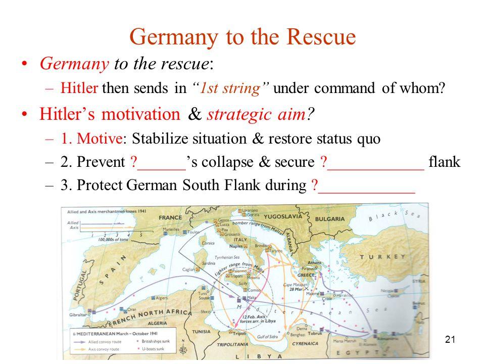 Germany to the Rescue Germany to the rescue: