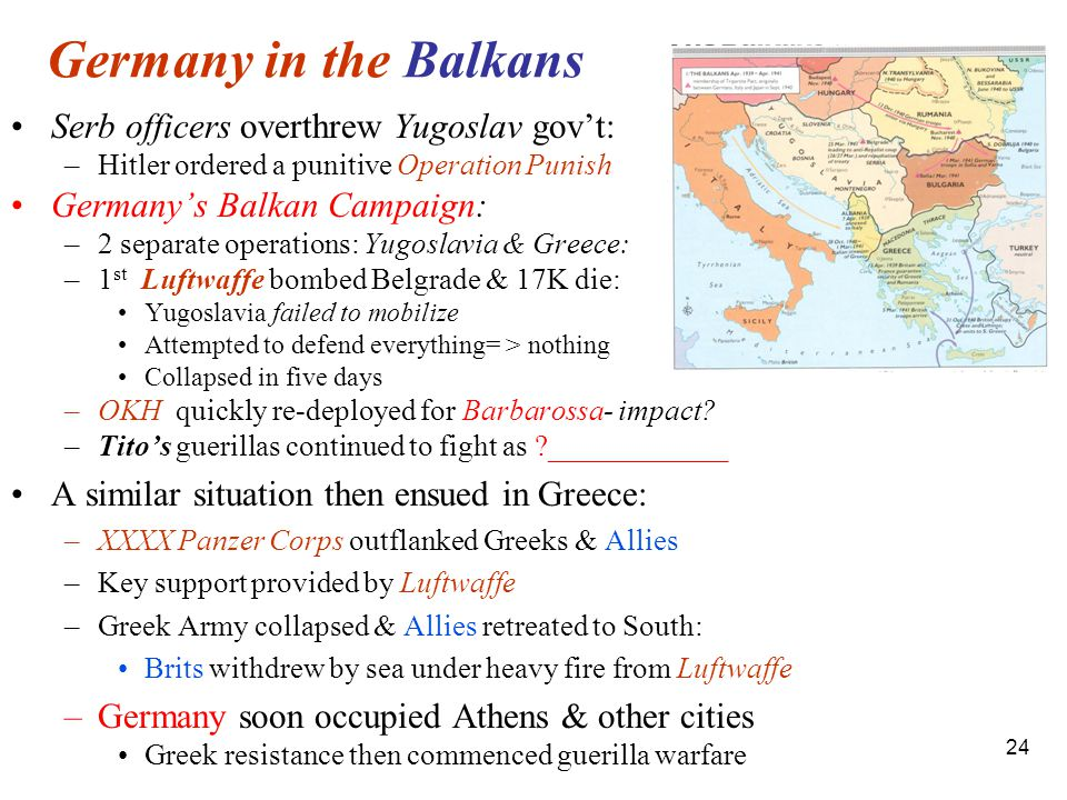 Germany in the Balkans Serb officers overthrew Yugoslav gov't: