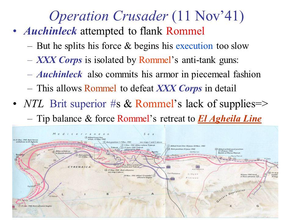 Operation Crusader (11 Nov'41)