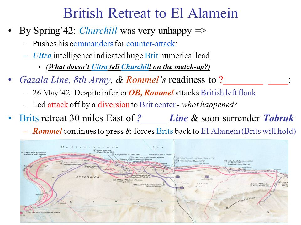 British Retreat to El Alamein