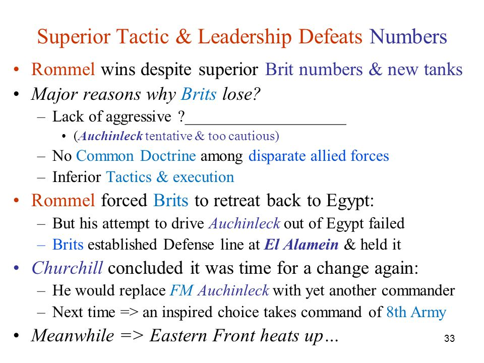 Superior Tactic & Leadership Defeats Numbers