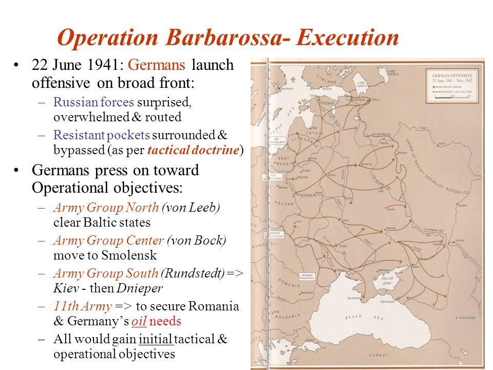 Operation Barbarossa- Execution