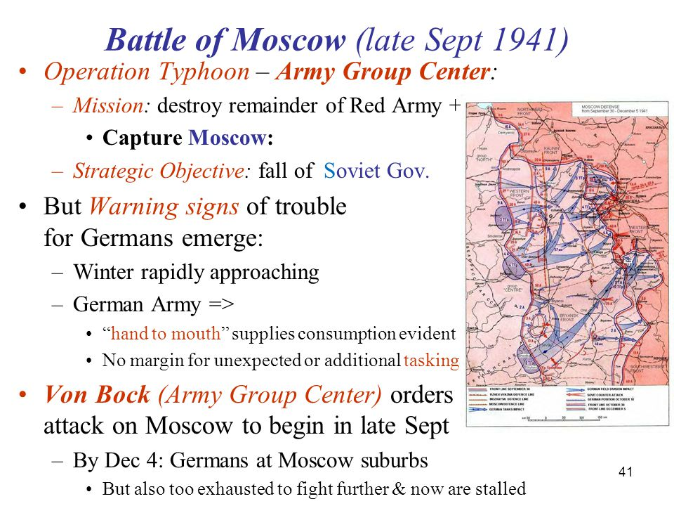 Battle of Moscow (late Sept 1941)