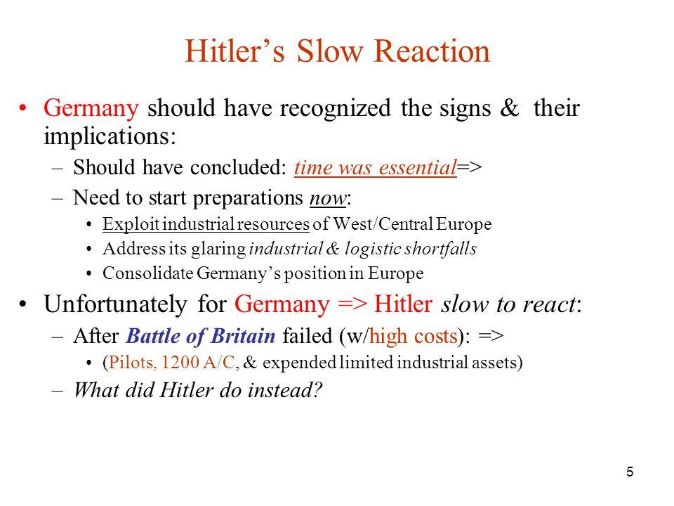 Hitler's Slow Reaction