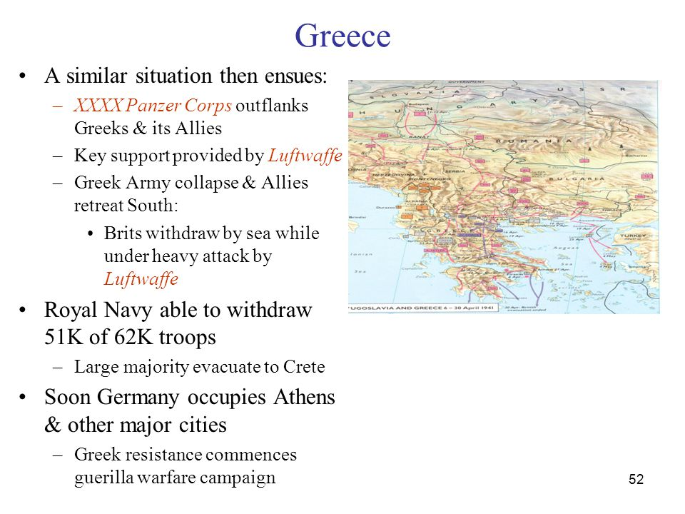 Greece A similar situation then ensues: