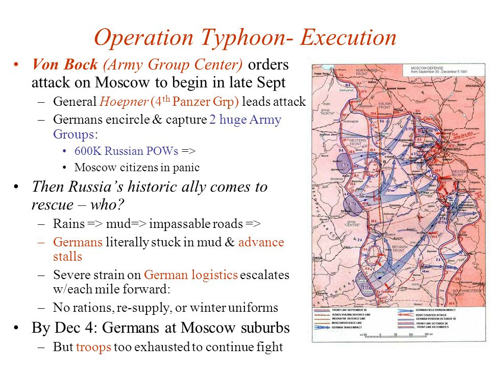 Operation Typhoon- Execution