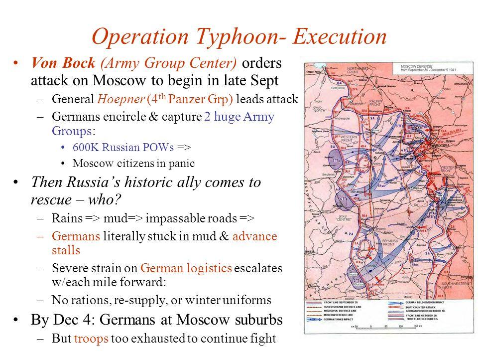 Operation Typhoon- Execution