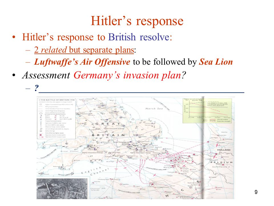 Hitler's response Hitler's response to British resolve: